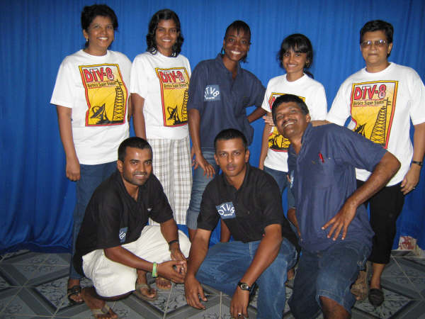 Top from Left Anita, Latisha, Jannelle, Melita and Ruth, Bottom from Left Raymond, Andrew and Tony