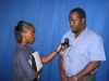 Channel 8 News Reporter Jannelle Williams interviewing Mr. Christopher Assanah, Chief Medical Technologist attached to the Georgetown Public Hospital